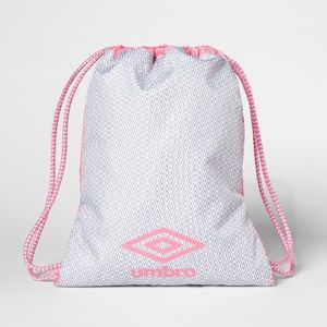 Umbro Drawstring Bag Pink and Grey Carry Sack